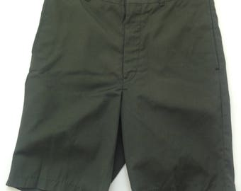 Vintage Army Green Uniform Shorts