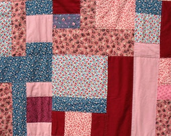 Patchwork Quilt Floral Prints and Solids