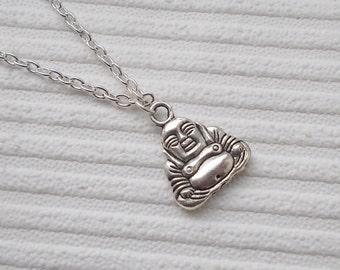 silver buddha necklace handmade necklace spiritual jewellery silver necklace fashion jewellery buddha charm necklace spiritual necklace gift