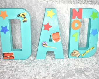 Personalised Dad Letters Word