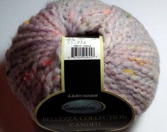 Stash Buster Multi Skein Yarn, Bellezza Collection Caditi Purple, Multiple Skeins, Total 8.2 oz, Boucle Yarn