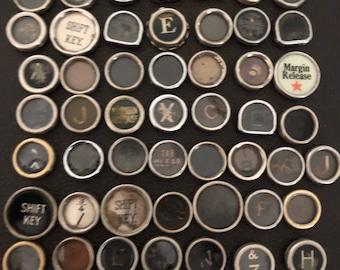 Vintage TYPEWRITER Keys Lot 50 Keys Lot 2 Junk Damaged Salvage only