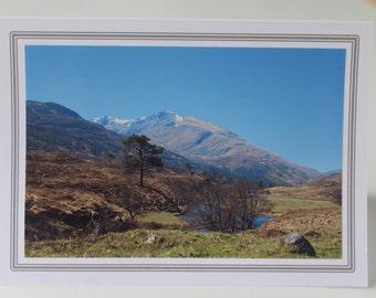 Landscape photo greetings/notelet - Glen Strathfarrar Scotland