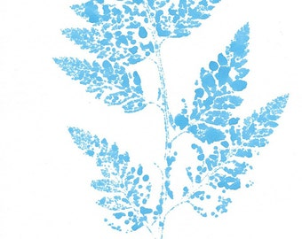 Fern Watercolor Print, Fern Print, Plant Print, Fern Watercolor, Fern Art, Watercolor Fern, Natural Art, Watercolor Art, Wall Art