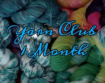 Yarn club, yarn subscription, yarn, crochet, knit, one month, Free shipping