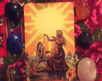 Modern Spellcasters Tarot Card Reading, Divination, Intuitive Reading using Crystals