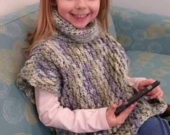 Child's cowl button sweater