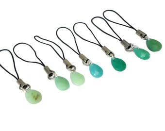 Green Teardrop Purse Charms for Zipper Pull, Tiny Green Charm for Purses Backpacks and Coats, Pretty Green Drop Charm Gift for Women Easter
