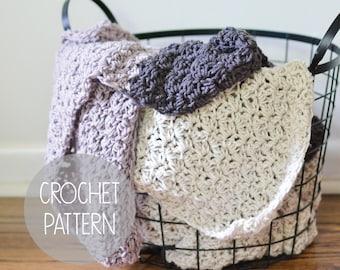 CROCHET PATTERN - oversized blanket - the Stuart Blanket