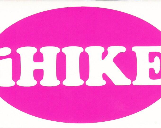 iHike vinyl decal, iHike decal, ihike sticker, hiker decal, appalachian trail decal, AT sticker, at decal