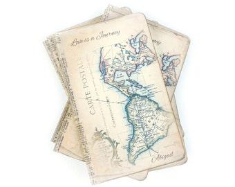 Custom Bridesmaid Gift - Travel Journal - Destination Wedding - Maid of Honor Gift - Flower Girl Gift - Custom Quote Map Journal