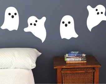 Ghost, Wall Decals, Set of 4, Halloween Decoration