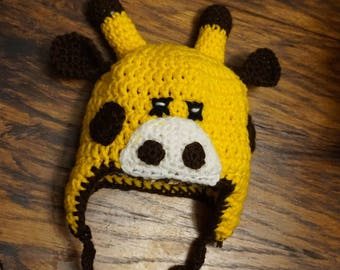 Animal character satin lined crochet beanie baby hat photography prop costume | Sale