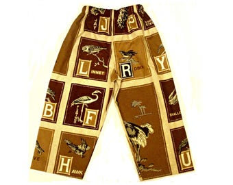 Cotton bird pajama pants