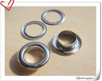 12mm (1/2 inch )  Inner diameter   Nickel  eyelets 40pcs grommet Non rusting make from copper G46