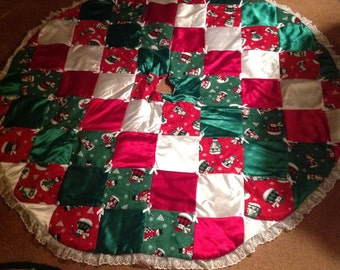 "60"" Handmade Christmas Tree Skirt"