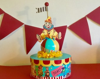 Circus Box/Clown Box/Circus Centerpiece/Clown Centerpiece/ Birthday Party