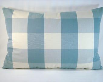 Blue Buffalo Check Pillow Wedgewood Buffalo Check Accent Check Pillow 15x23