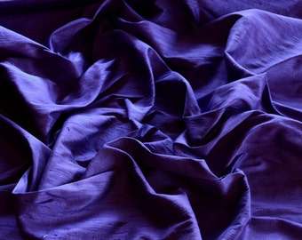 "Iridescent Sapphire Blue Dupioni Silk, 100% Silk Fabric, 44"" Wide or 54"" Wide, By The Yard (S-115)"