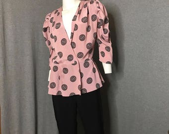 Vintage Peplum Jump Suit Size: S