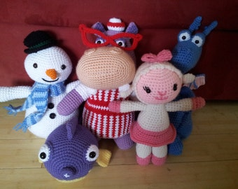 Doc McStuffins 5 patterns bundle with Chilly, Hallie, Lambie, Squeakers and Stuffy
