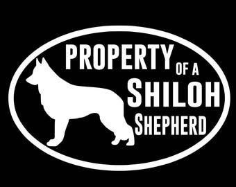 Property of Shiloh Shepherd Decal