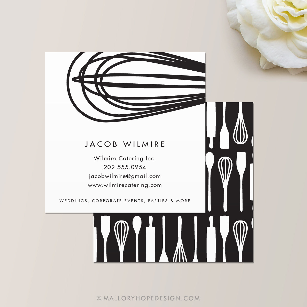 Baker or Catering Chef Square Business Card / Calling Card /
