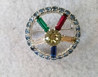 Vintage Multi Colored Brooch