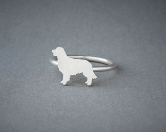 GOLDEN RETRIEVER RING / Golden Retriever Ring / Silver Dog Ring / Dog Breed Ring / Silver, Gold Plated or Rose Plated.