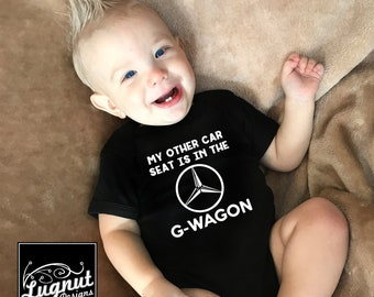 G-Wagon Car Seat - Baby Bodysuit or Toddler TShirt (New Logo)