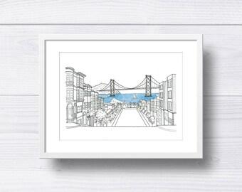 San Francisco Bay Bridge Print
