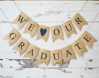 Graduation Party Decor, Class of 2017 Graduation Banners, Class of 2017 Decorations, Burlap Graduation Banners, 2017 Graduation Banner, B490