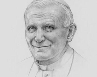 Pope John Paul II Art Print