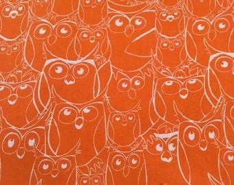 1 yard night owls fabric