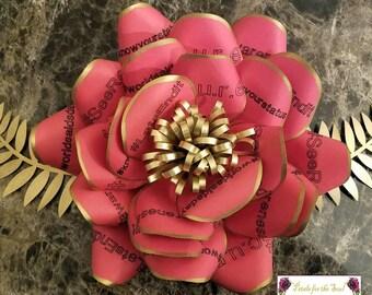 AIDS Ribbon Awareness Rose Paper Flower | HIV Awareness