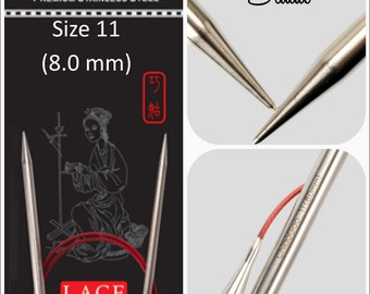 US 11 (8.0mm) Chiaogoo Red Lace Circulars - Choice of Length