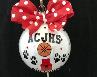 Christmas ornament, basketball ornament, personalized basketball ornament, basketball team, custom basketball ornament, basketball player