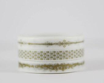 Set of 3 Slim gold foil tape Washi tape Baroque