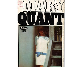 Patons 827 MARY QUANT Womens 1960s Knitting Patterns Booklet MOD Dresses Tops Cardigans Socks Stockings Skirts in 8 Ply Yarn