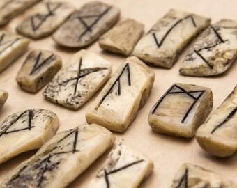 Handmade Runes made in Real Bone