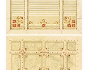 Vintage Art Nouveau Design Print