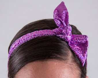 Mermaid Purple Tie-up Headband