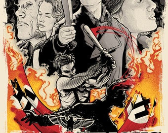 Inglorious Basterds Cult Film Movie Poster Print Tarantino Retro Vintage A1 A2 A3 A4