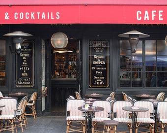 Paris Cafe on the Left Bank, Rue Cler , Cafe Photo, Art Prints, Paris Photography, Paris Decor, French Kitchen Art, Parisian Cafe