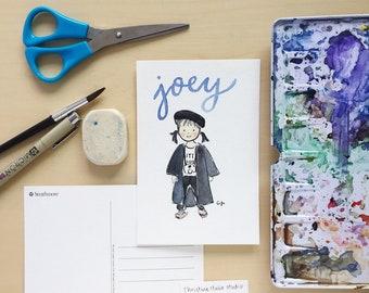 Custom Watercolor Portrait Postcard