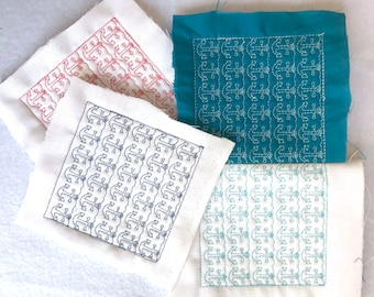 ITH Quilting blocks with Anchors. 4×4, 5×5, 6×6 and 8×8 hoop size Machine Embroidery quilting blocks by Pixie Willow Patterns