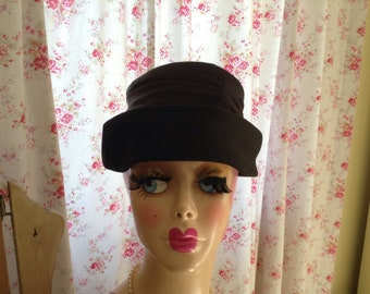 1940s Black day hat