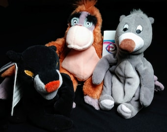 Vintage Disney Plushies Jungle Book Characters