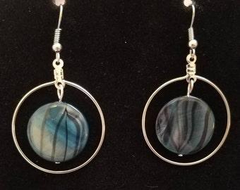 Simple bead & hoop earrings