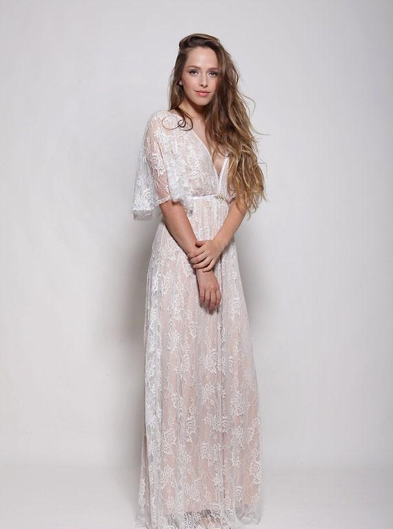 lace bride dress